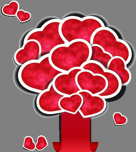 Наклейка «Алые сердца»Любовь<br><br>