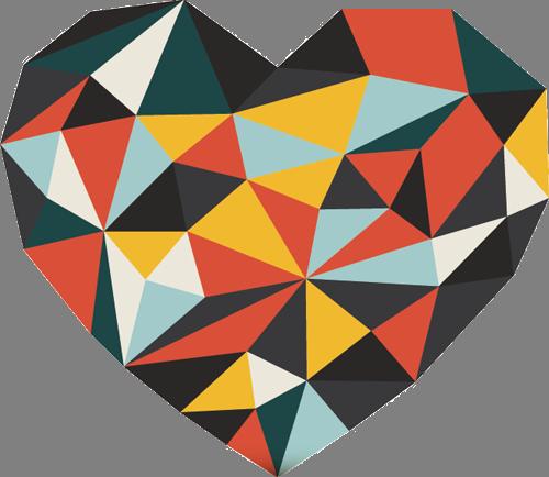 Наклейка «Абстрактное сердце»Любовь<br><br>