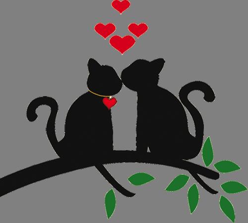 Наклейка «Коты целуются»Любовь<br><br>