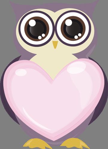 Наклейка «Сова и сердце»Любовь<br><br>