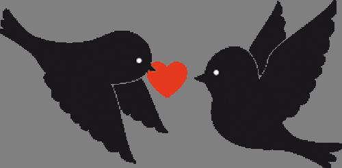 Наклейка «Любовь чёрных птиц»