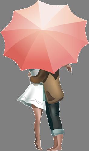 Наклейка «Любовь под дождём»
