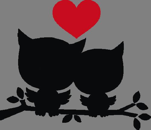 Наклейка «Алое сердце любви»