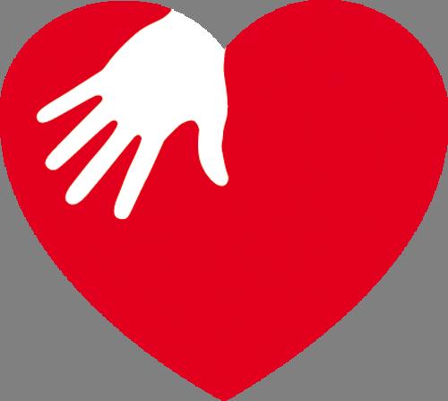 Наклейка «Рука на сердце»