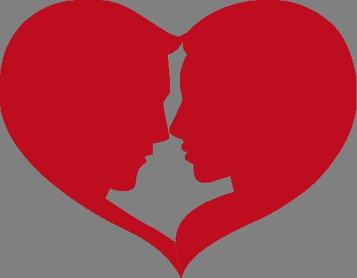 Наклейка «Профили в сердце»Любовь<br><br>