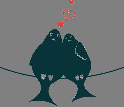 Наклейка «Любовь и голуби»Любовь<br><br>