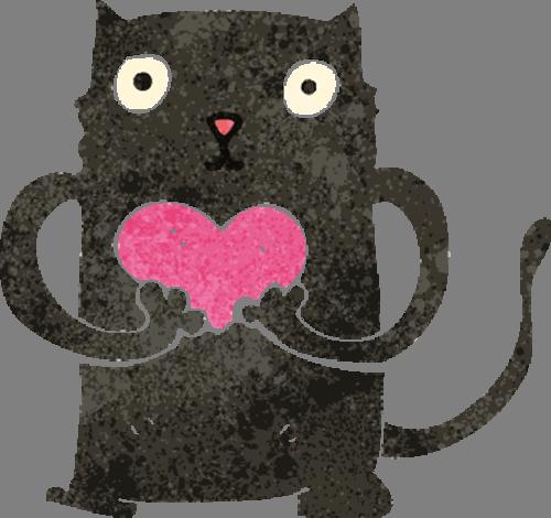 Наклейка «Влюблённый кот»Любовь<br><br>