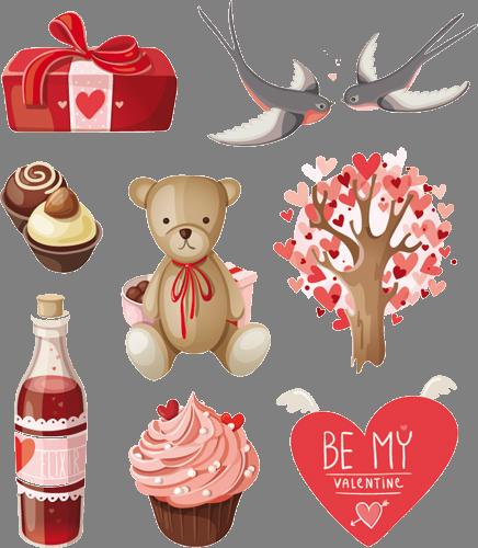 Наклейка «Подарки для любимых»Любовь<br><br>