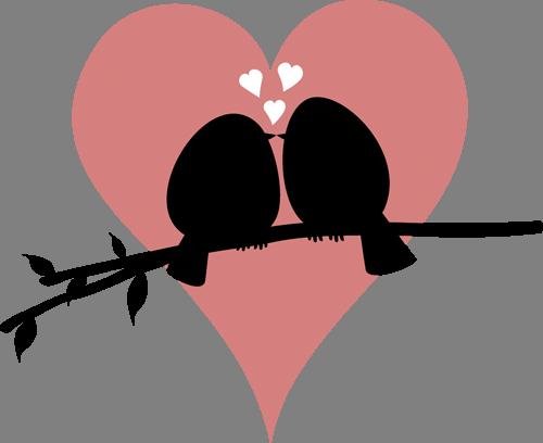Наклейка «Любовь маленьких птичек»Любовь<br><br>