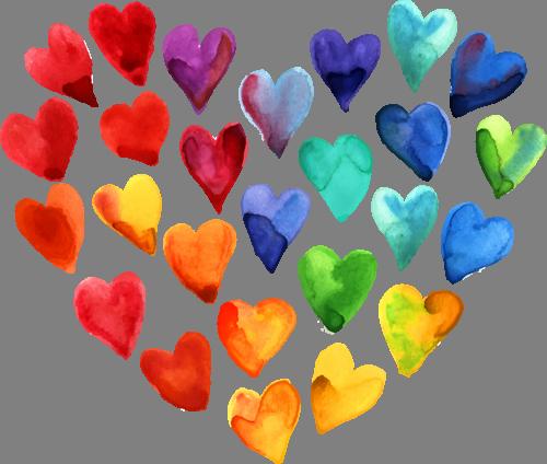 Наклейка «Множество сердечек»Любовь<br>Цветная интерьерная наклейка на виниле. Яркая и красивая! Можно сделать любой размер. Трехслойная надежная упаковка. Доставим в любую точку России.<br>