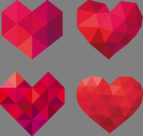 Наклейка «Четыре сердца»