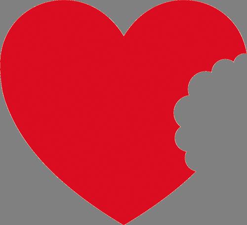 Наклейка «Разорванное сердце»