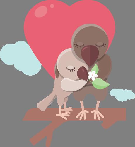 Наклейка «Любовь в облаках»Любовь<br>Цветная интерьерная наклейка на виниле. Яркая и красивая! Можно сделать любой размер. Трехслойная надежная упаковка. Доставим в любую точку России.<br>