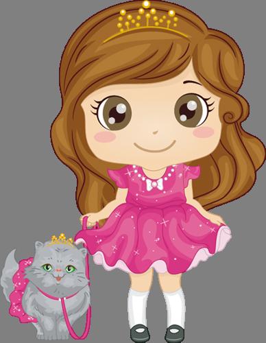 Наклейка «Девочка и кот»Люди<br><br>