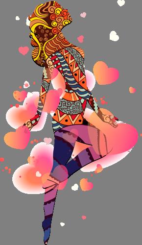 Наклейка «Влюблённая девушка»Люди<br>Цветная интерьерная наклейка на виниле. Яркая и красивая! Можно сделать любой размер. Трехслойная надежная упаковка. Доставим в любую точку России.<br>