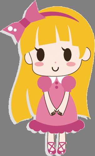 Наклейка «Девочка в розовом»Люди<br><br>