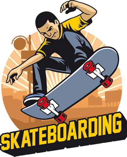 Наклейка «Парень на скейте»Люди<br><br>