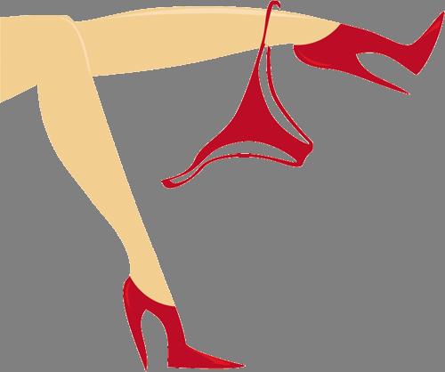 Наклейка «Девушка в красном»Люди<br><br>