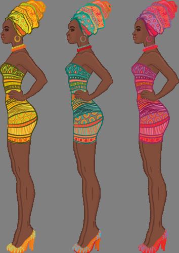 Наклейка «Африканки»Люди<br><br>