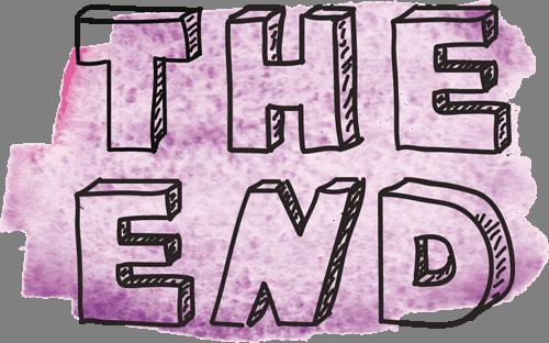 Наклейка «Конец»Надписи<br><br>