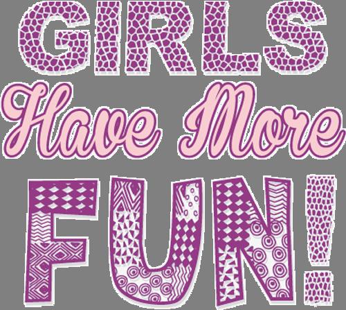 Наклейка «Девушки любят развлекаться»