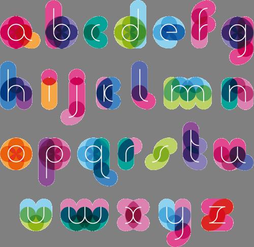 Наклейка «Цветной алфавит»Надписи<br><br>