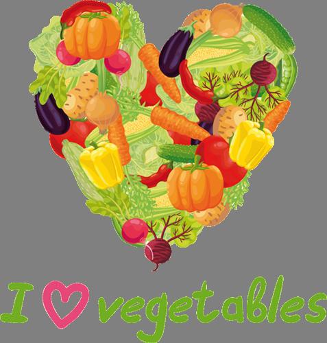 Наклейка «Любителям овощей»Надписи<br><br>