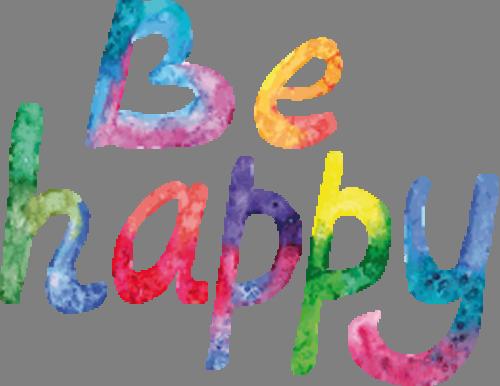 Наклейка «Будь счастлив»Надписи<br><br>