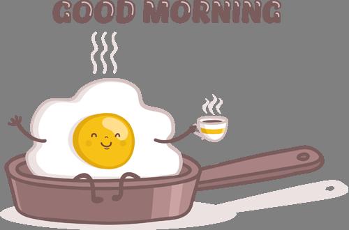 Наклейка «Завтрак»
