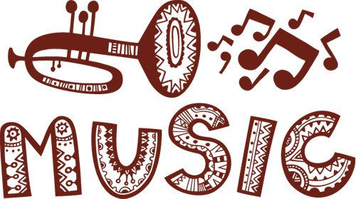 Наклейка «Музыка»Надписи<br><br>