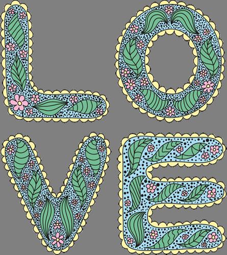 Наклейка «Love»