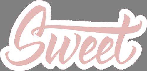 Наклейка «Sweet»Надписи<br><br>