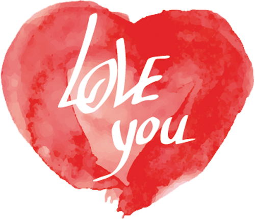 Наклейка «Love you»