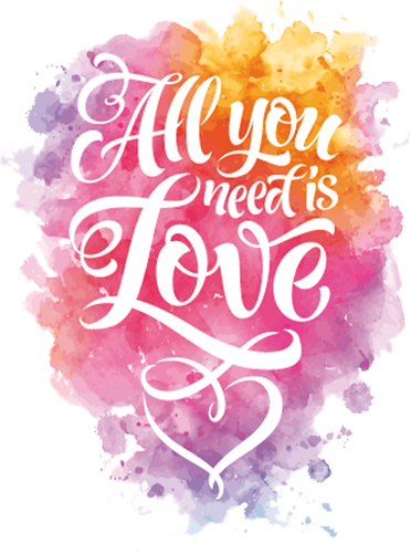 Наклейка «Любовь это всё что нужно»Надписи<br>Цветная интерьерная наклейка на виниле. Яркая и красивая! Можно сделать любой размер. Трехслойная надежная упаковка. Доставим в любую точку России.<br>