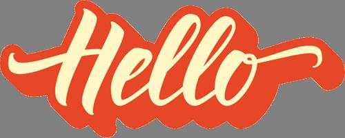 Наклейка «Привет»Надписи<br><br>