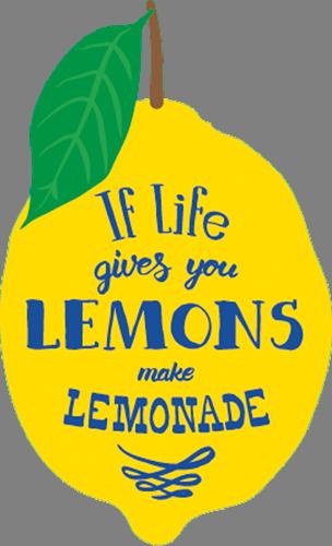 Наклейка «Лимоны и лимонад»Надписи<br>Цветная интерьерная наклейка на виниле. Яркая и красивая! Можно сделать любой размер. Трехслойная надежная упаковка. Доставим в любую точку России.<br>