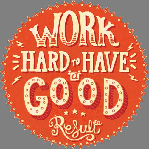 Наклейка «Работа и добро»Надписи<br><br>
