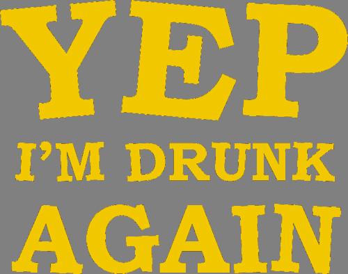 Наклейка «Да,я пьян снова»Надписи<br><br>