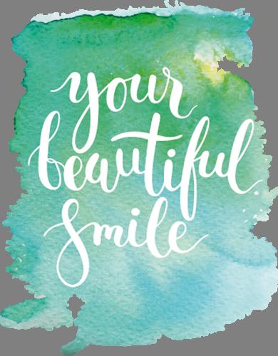 Наклейка «Твоя прекрасная улыбка»