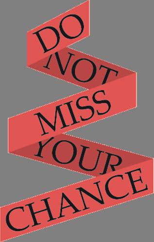 Наклейка «Не упускай шанс»