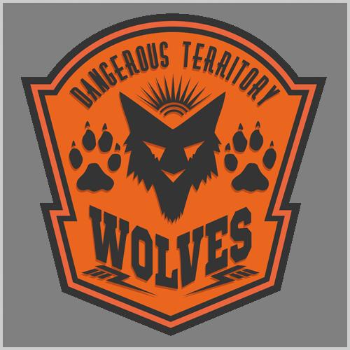 Наклейка «WolvesНадписи<br><br>