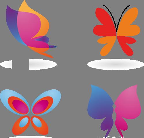 Наклейка «Четыре бабочки»Насекомые<br><br>