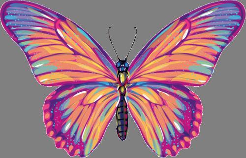 Наклейка «Бабочка»Насекомые<br>Цветная интерьерная наклейка на виниле. Яркая и красивая! Можно сделать любой размер. Трехслойная надежная упаковка. Доставим в любую точку России.<br>