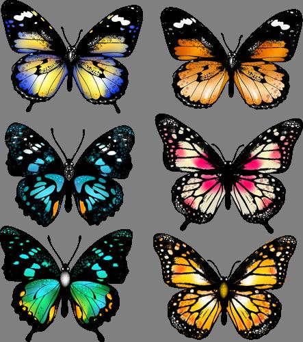 Наклейка «Шесть бабочек»Насекомые<br><br>