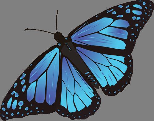 Наклейка «Синяя бабочка»Насекомые<br><br>