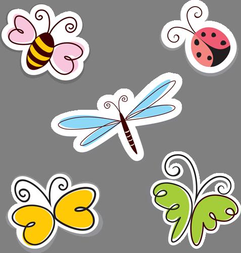 Наклейка «Пятеро насекомых»Насекомые<br><br>