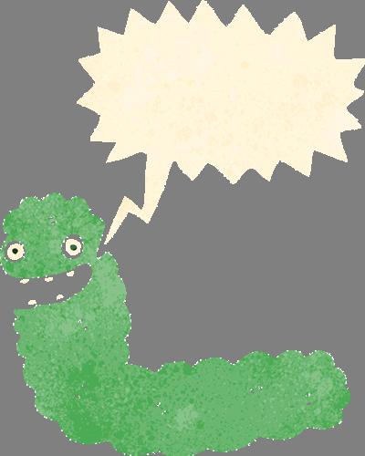 Наклейка «Зелёная гусеница»Насекомые<br><br>