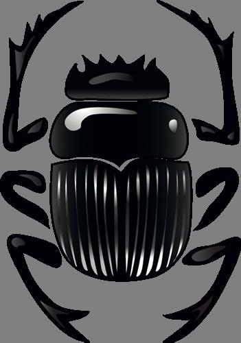 Наклейка «Чёрный жук»Насекомые<br><br>