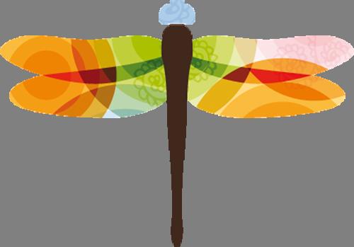 Наклейка «Цветная стрекоза»Насекомые<br><br>