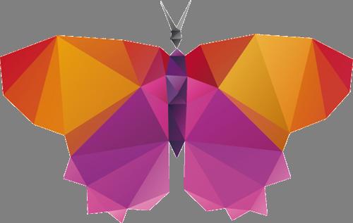 Наклейка «Бабочка в абстракции»Насекомые<br>Цветная интерьерная наклейка на виниле. Яркая и красивая! Можно сделать любой размер. Трехслойная надежная упаковка. Доставим в любую точку России.<br>